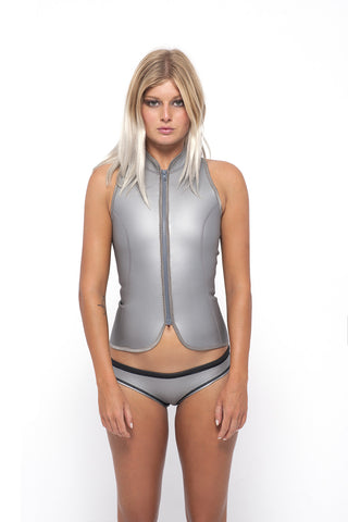 HIU Wide BUM- Metallic Silver