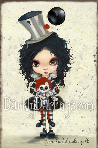 cute and creepy clown girl