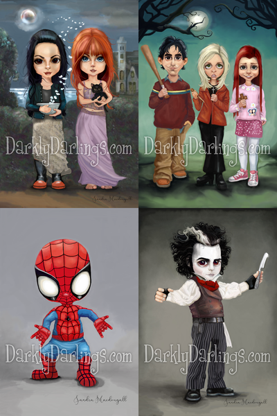 Sally & Gillian Owens; Cute Buffy, willow, and xander; spiderman; Sweeney Todd