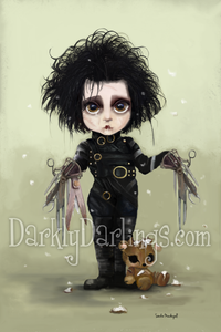 Cute and sad Edward Scissorhands fan art.