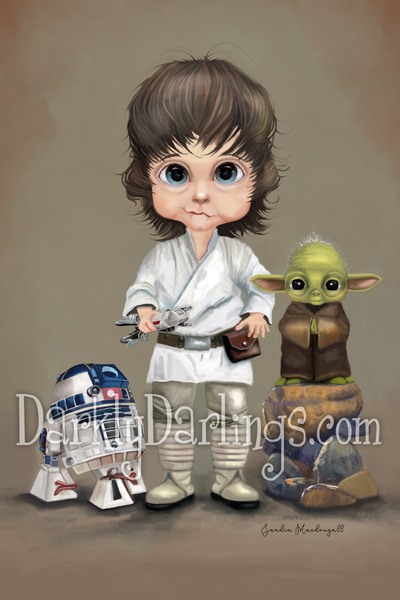 Luke Skywalker, R2D2, Yoda