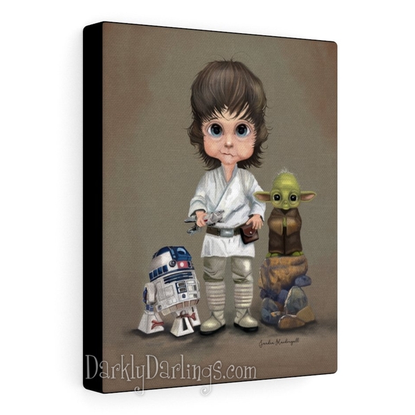 Little Jedi 8x10 Canvas Wrap