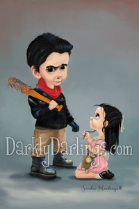 Cute little Negan from The Walking Dead