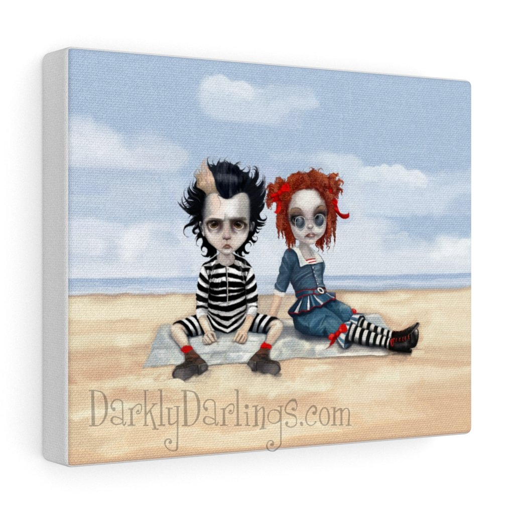 Sweeney Todd and Mrs. Lovett at the beach