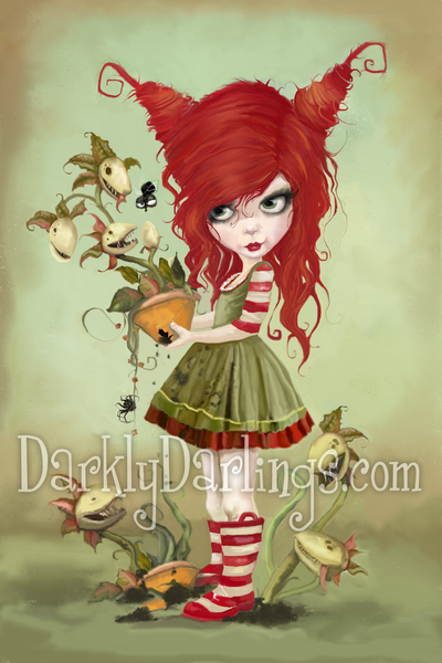 Cute and creepy Poison Ivy with her plants