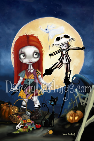 Cute and Creepy Jack and Sally fan art