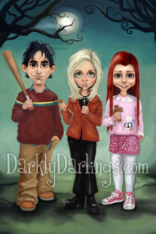 Cute Buffy, willow, and xander