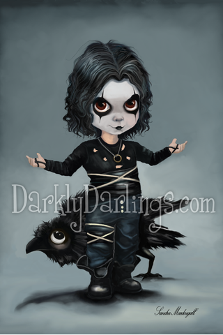 Little Brandon Lee as The Crow