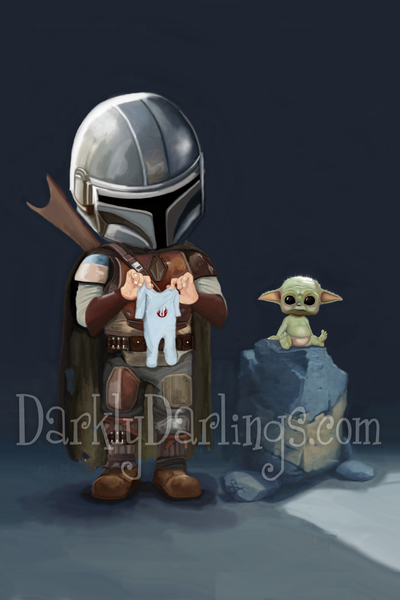 The Mandalorian with The Child aka the adorable Baby Yoda