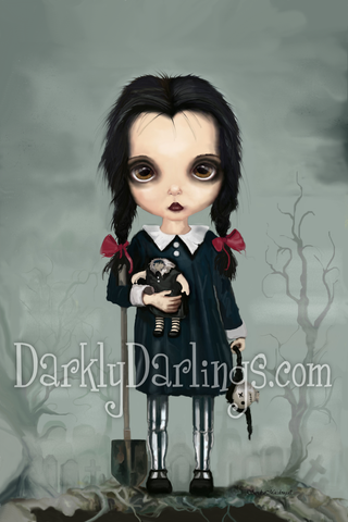 Creepy cute Wednesday Addams fanart