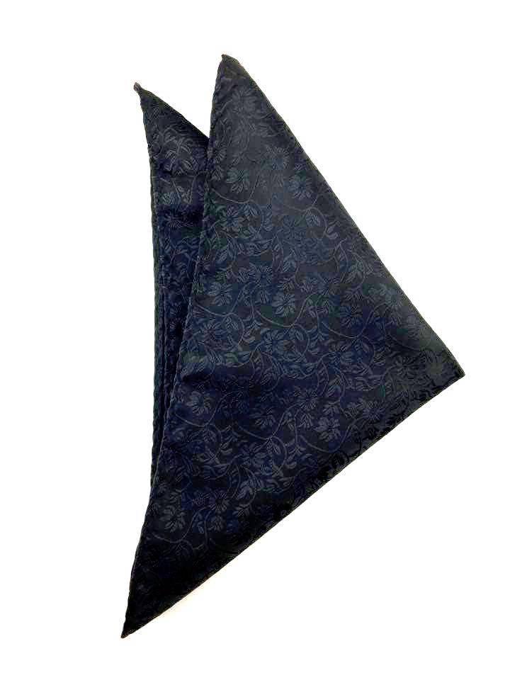 Black Pattern Paisley Pocket Square