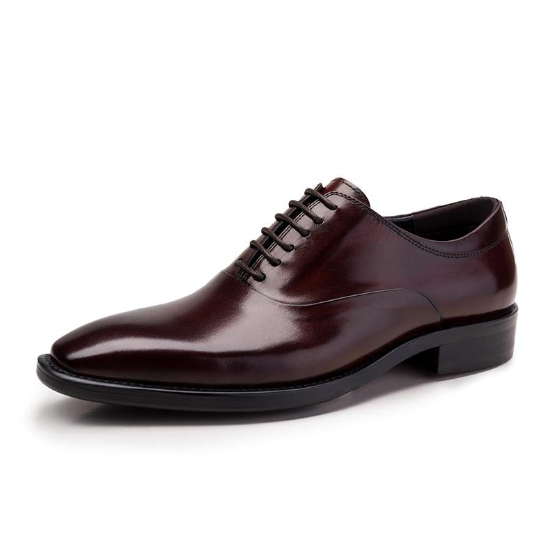 Plain Toed Lace Up Derby Bespoke - Burgundy