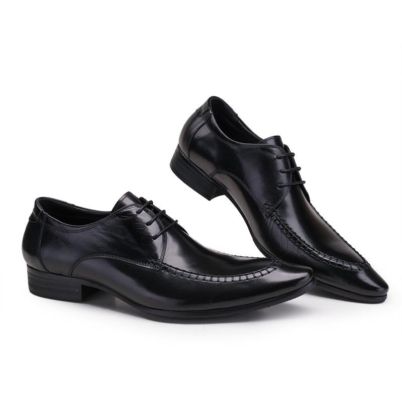 Derby Pointed Toe Bespoke - Black