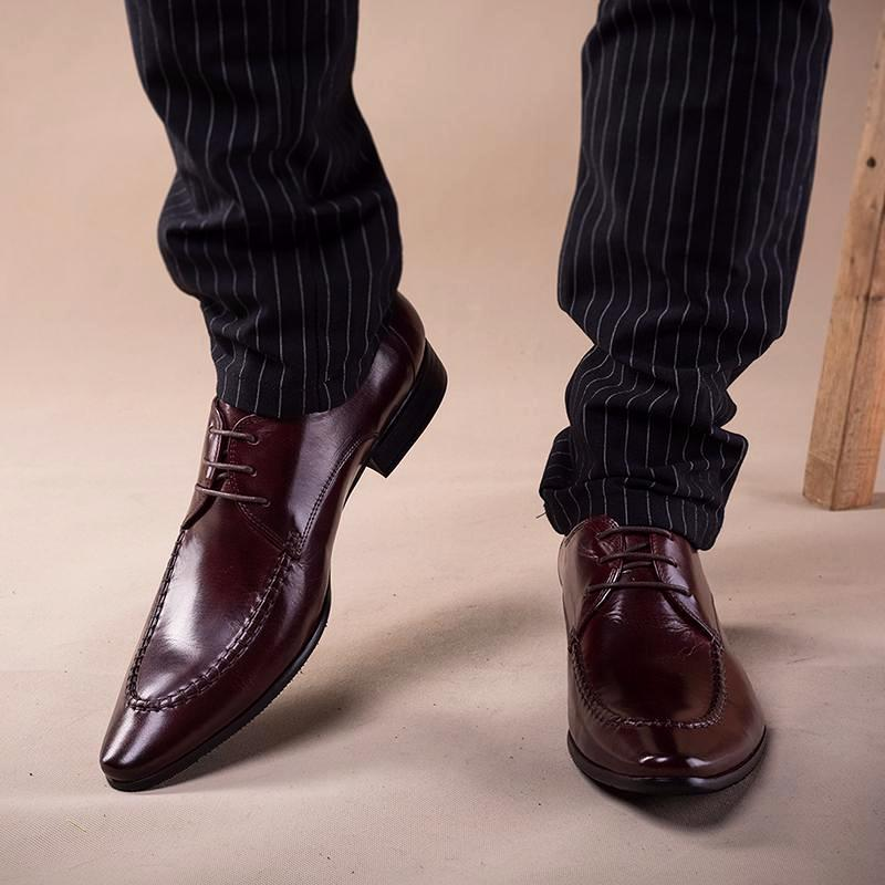Derby Pointed Toe Bespoke - Burgundy