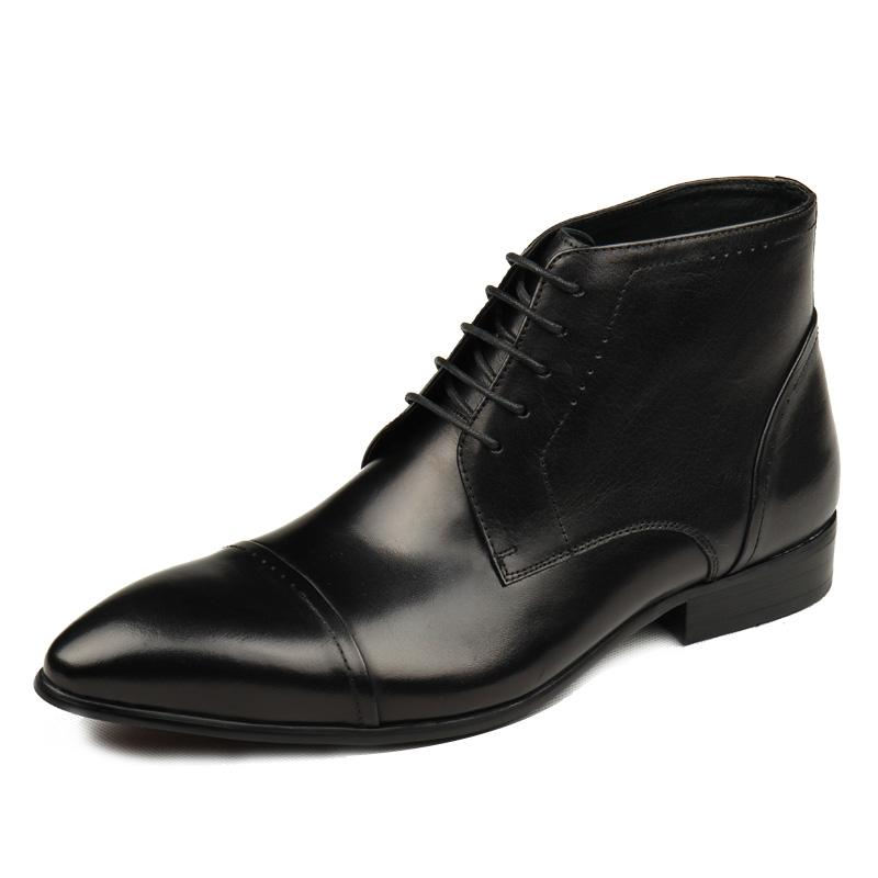 Mid cap Derby Boots - Black