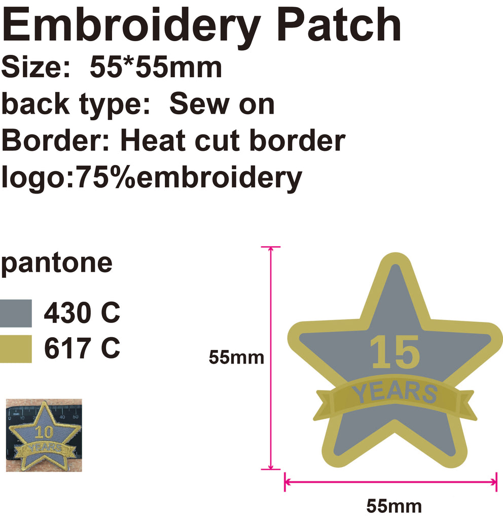 100 Custom Embroidery Patches for Renee