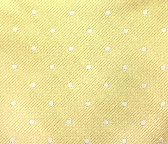 yellow white polka swatch