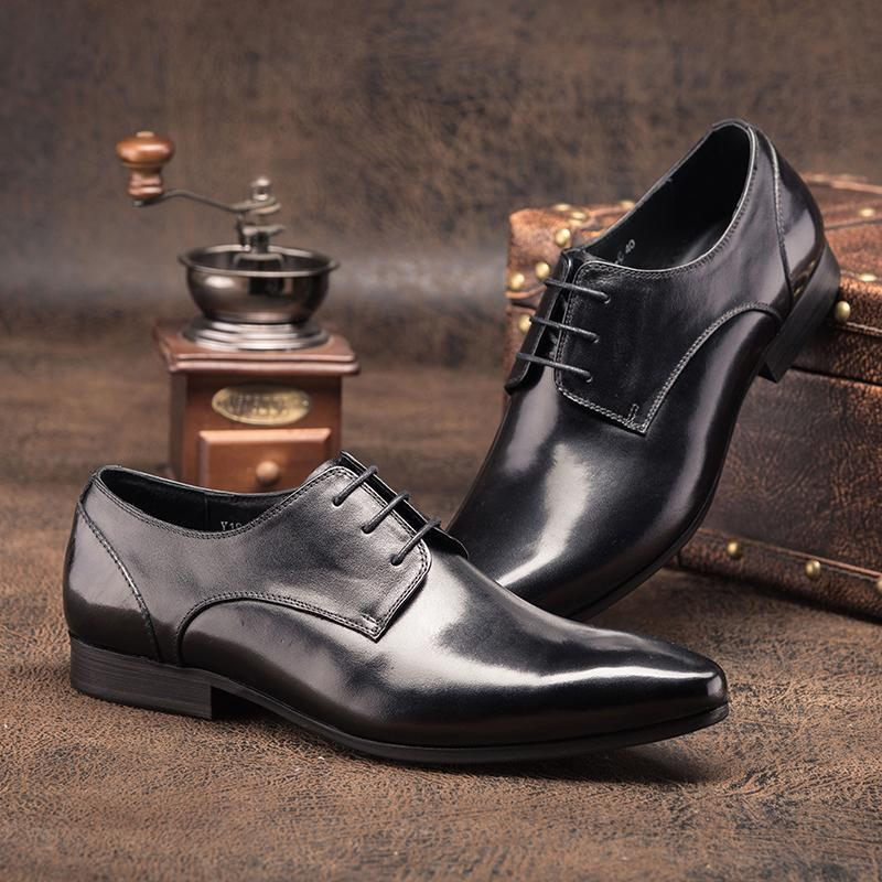 Plain Toed Derby Bespoke - Black/Tan
