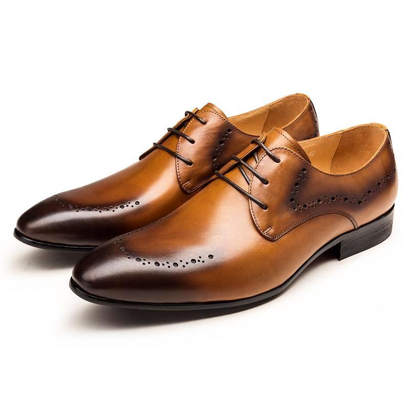 Derby Mens Shoes - Tan