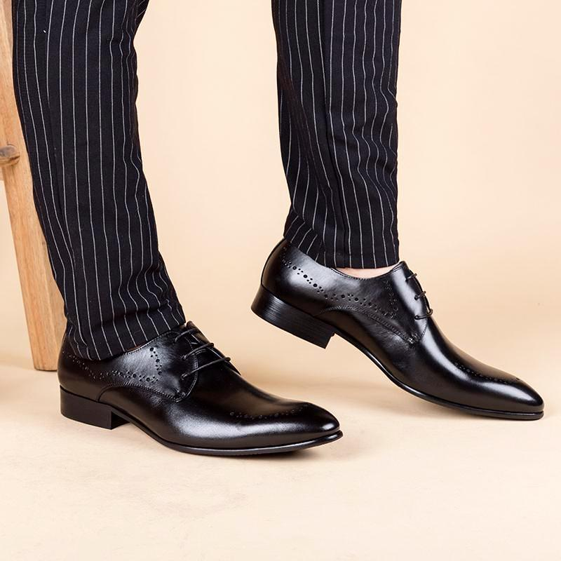 Derby Men Shoes - Black