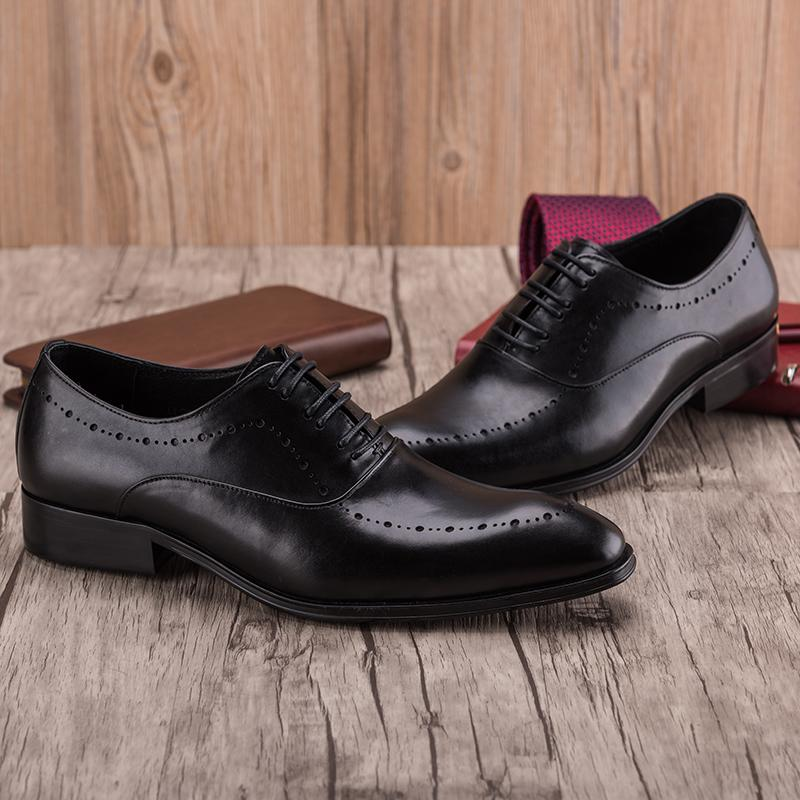 Oxford lace Up Formal Shoes - Black