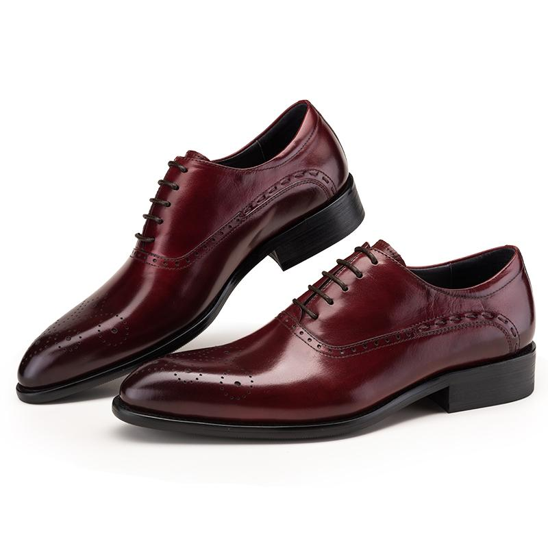 Oxford Wingtip Medallion - Burgundy/Black