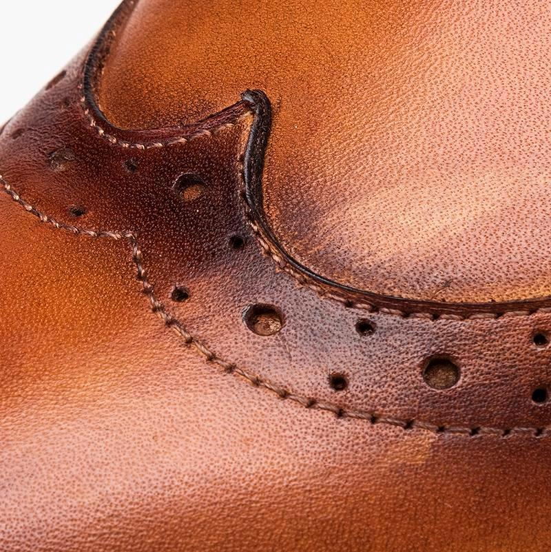 Wingtip Derby Men's Shoes Bespoke - Tan