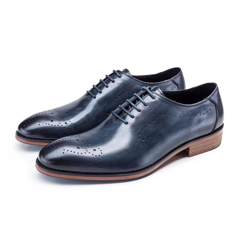 Wholecut Medellion Tip Oxford - Cobalt Blue