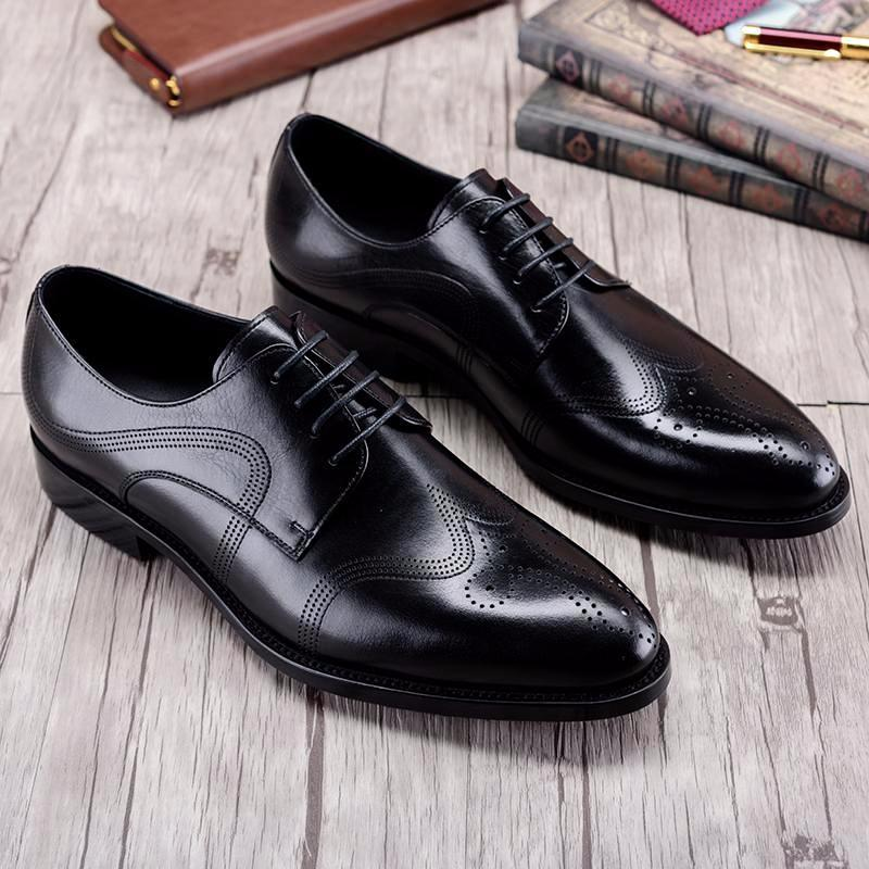 Derby Wingtip Brogue Bespoke - Black/Brown