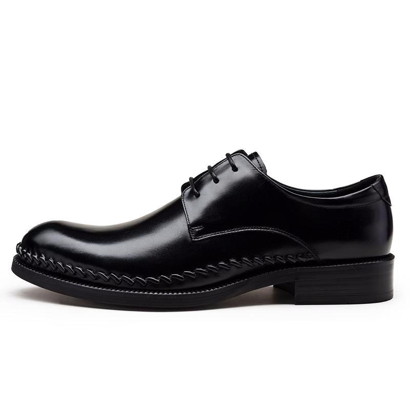 Derby Lace Up Formal Shoes - Black