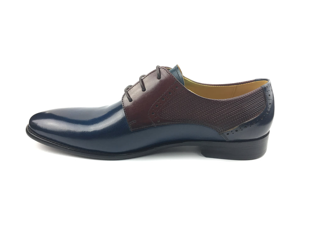 Plain Toed Derby - Navy Blue