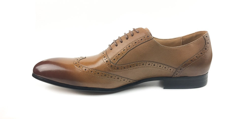 Wingtip Brogue Oxford Bespoke - Coffee