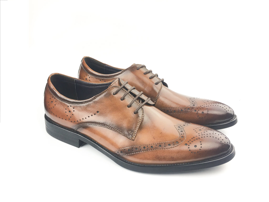 Brogue Wingtip Medallion - Brown (Size 44)