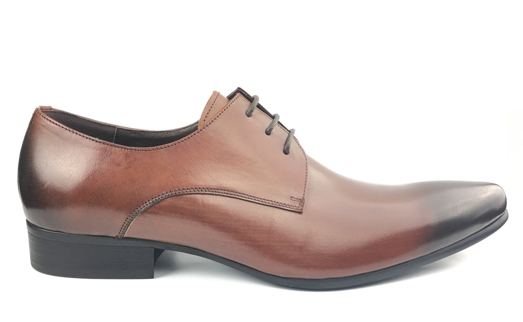 Pointed Toe Derby - Brown (Size 44)