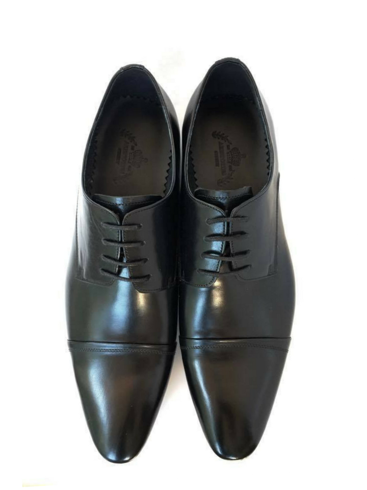 Mid Cap Pointed Toe Derby - Black