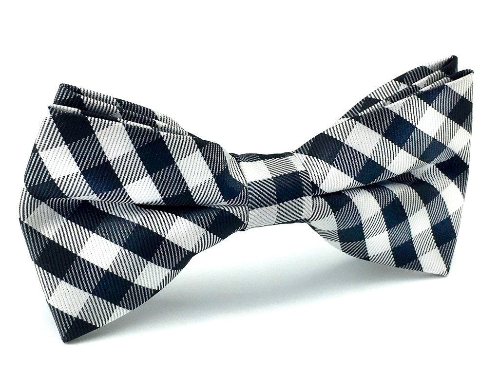 grooms checkered bow ties