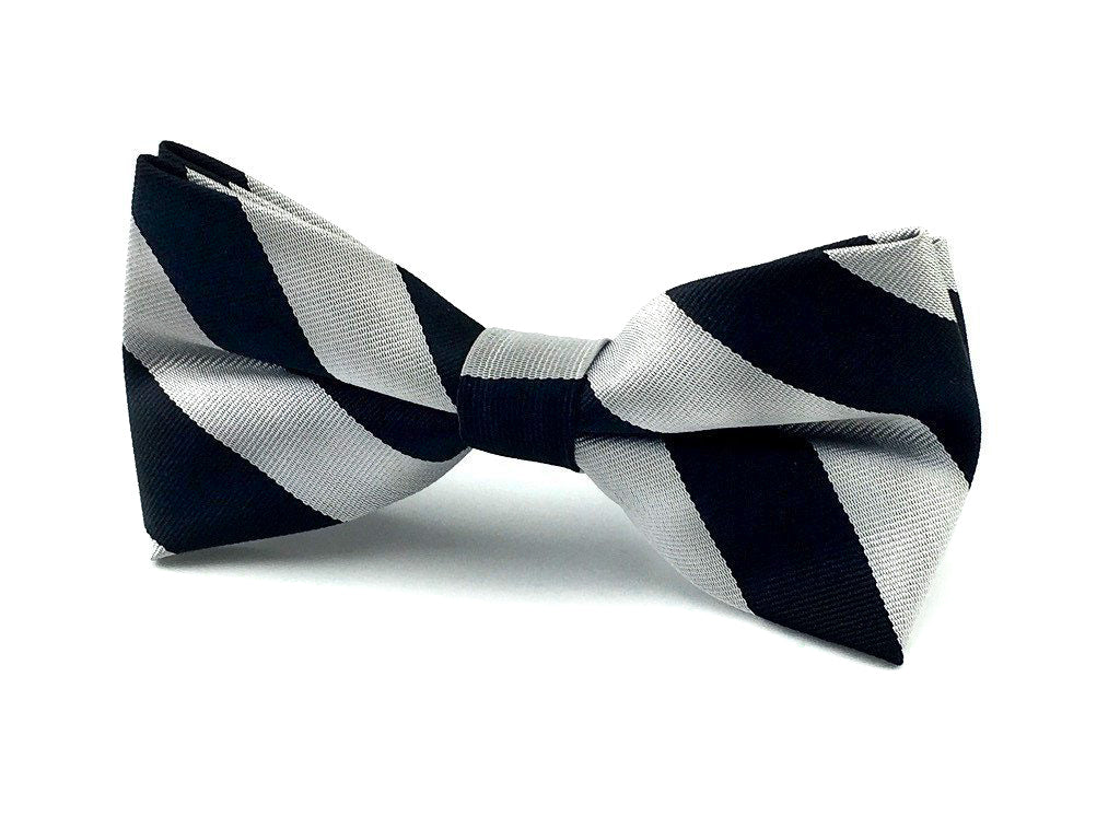 gray stripes bowtie