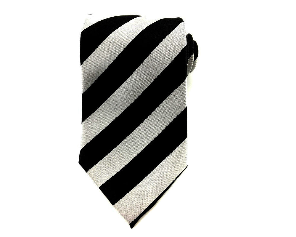 Black Gray Stripe Necktie