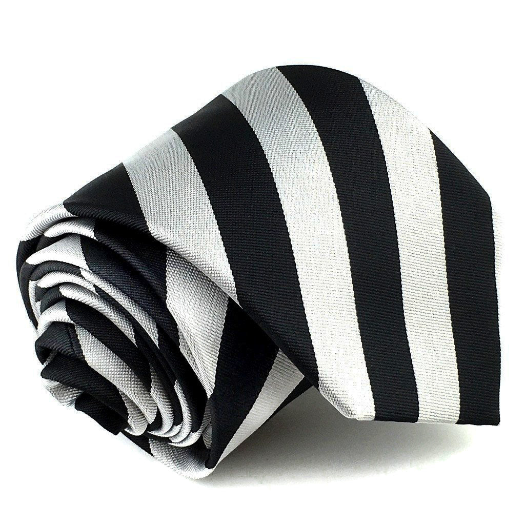 Black Gray Striped Neck Ties