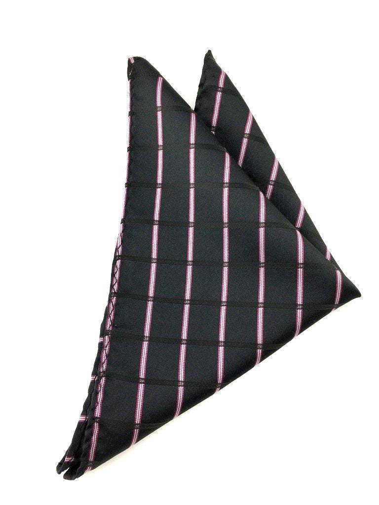 pink check handkerchief