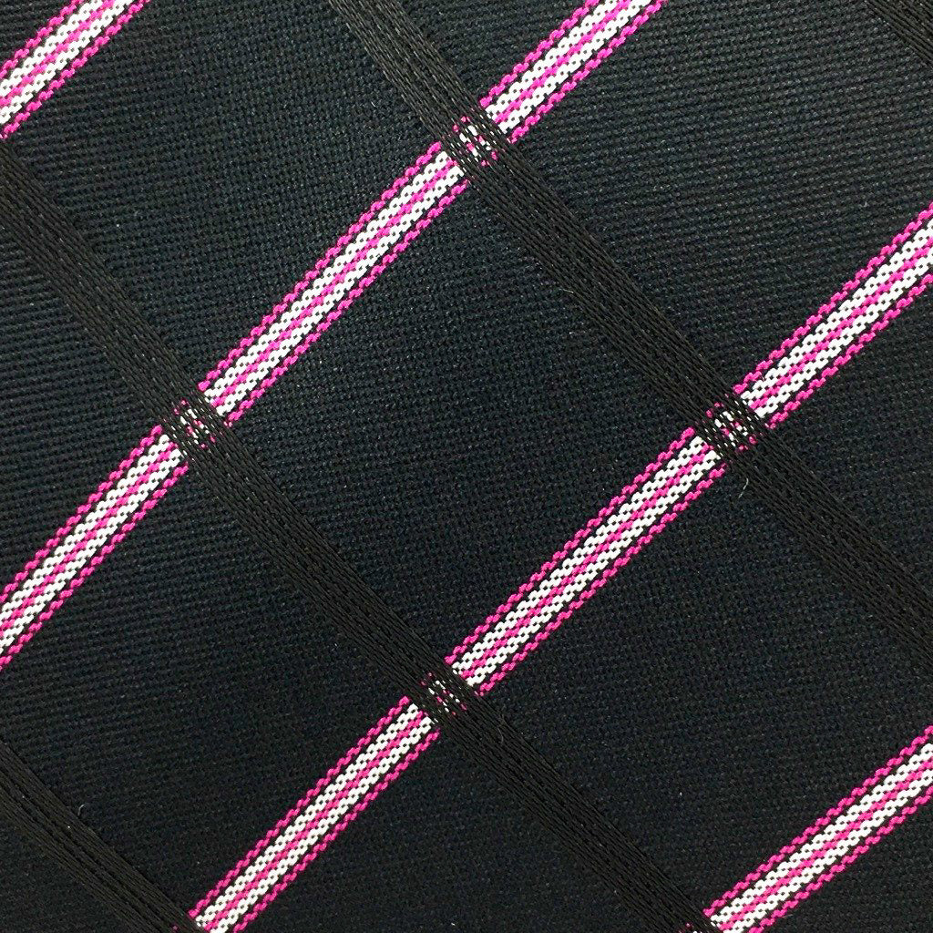 black pink white check swatch