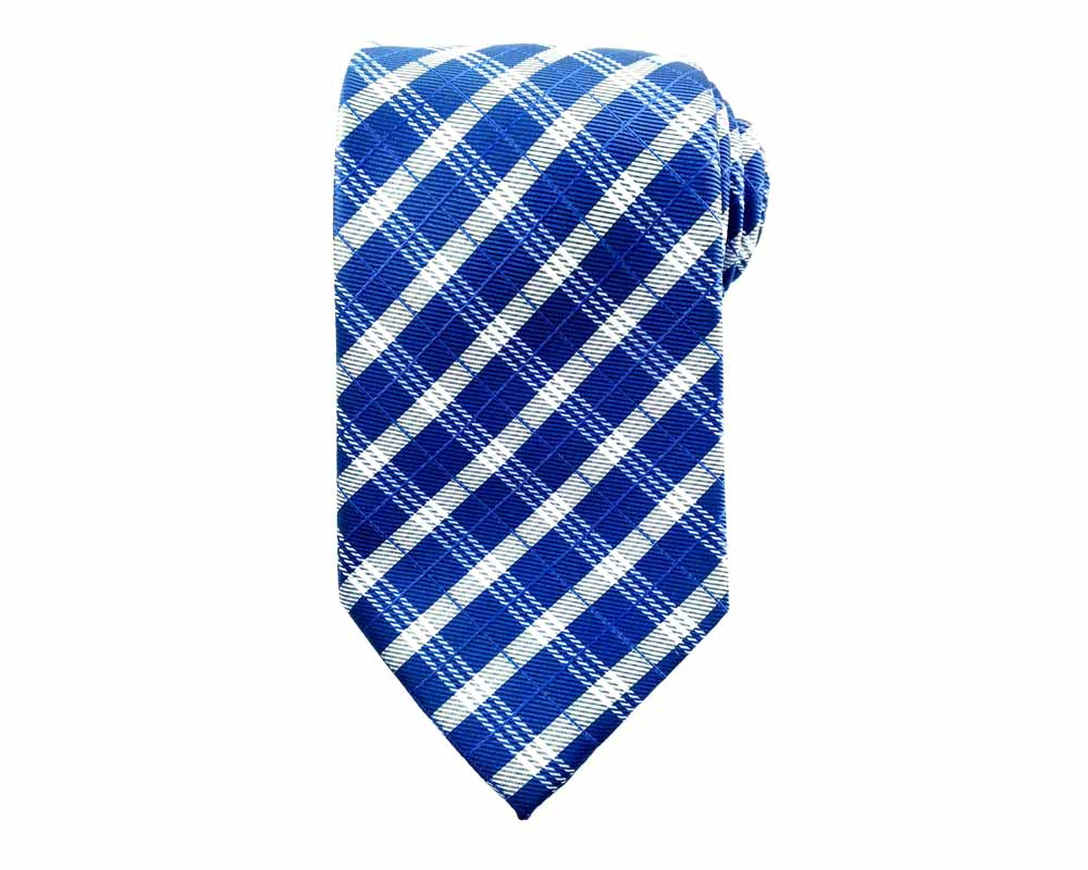 blue check ties