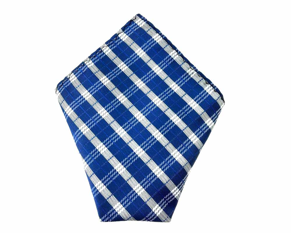 blue check handkerchief