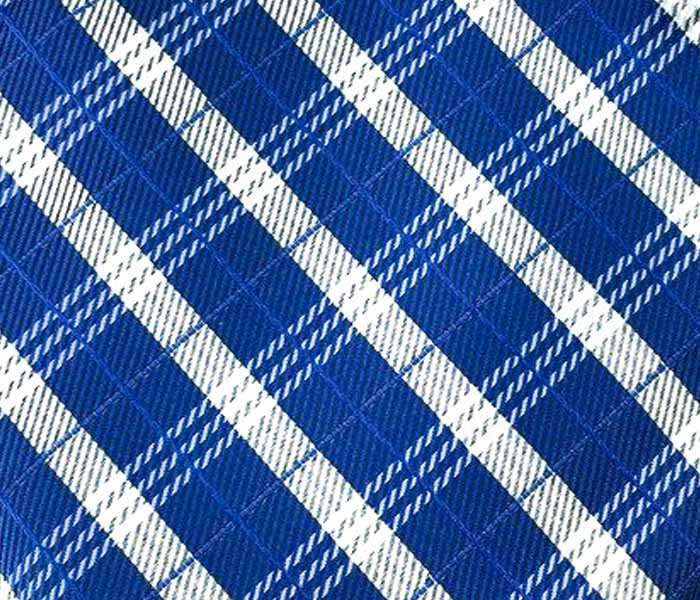 Yale Blue with Check Patterns Self-Tied Bow Tie & Pocket Square Combo