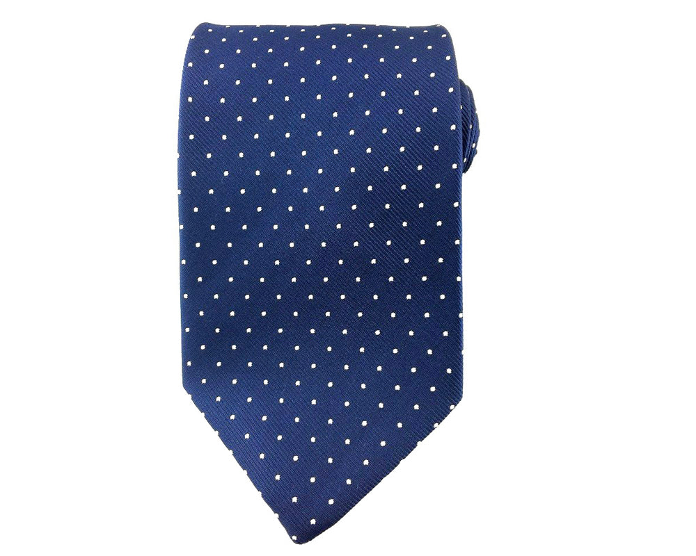 white dots necktie