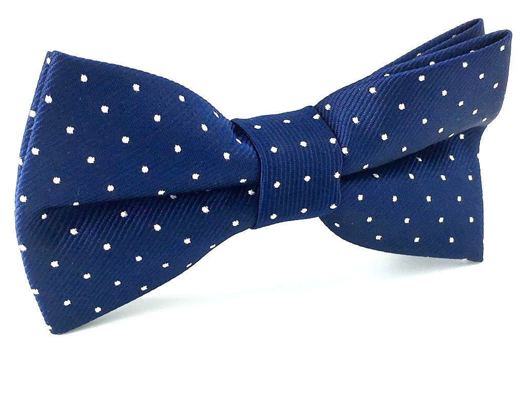blue dots bowties