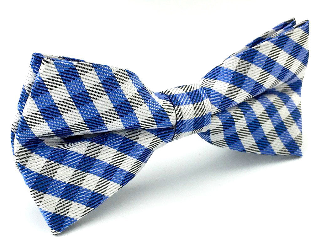 grooms checkered bowtie