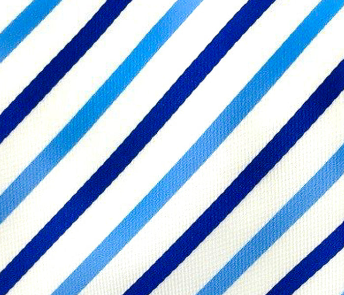 shades of blue stripes swatch