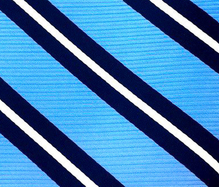 sky blue navy blue white accent stripe swatch