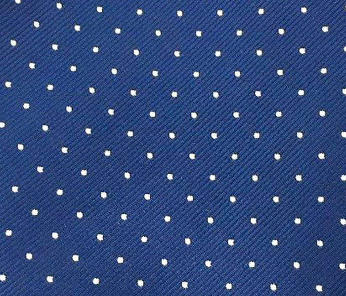 white dots navy blue swatch